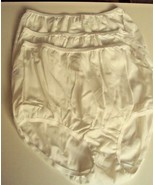 Three Dixie Belle Lingerie Nylon Briefs Size 9 White Style 719 - $13.81