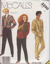 McCALL'S VINTAGE 1985 PATTERN 2250 SIZE 12 MISSES' SHIRT, VEST, PANTS - $3.90