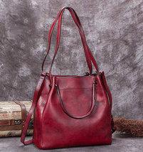 Sale, Full Grain Leather Handbag, Women Designer Shoulder Bag image 2