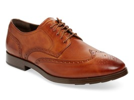 New in Box- $280 COLE HAAN Jefferson Grand II Wingtip Tan Leather Oxford... - $119.99