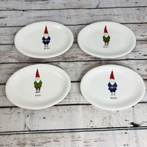 Rae Dunn Oval Plates Gnomes - Set of 4 (Merry and Magic) - $33.94