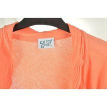 Oh My Gauge jacket cover open OS orange sherbet long sleeve ruffle front hi lo image 6