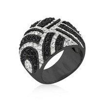 Black And White Cocktail Ring - $78.00