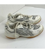 Asics Womens Sz 10 White Silver BY258 Athletic Shoes Sneakers F090503 - $32.44