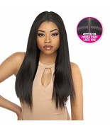 Style Plus Human Hair Blend Lace Front Wig Cross Part Lace Yaki [Vixen L... - $51.03