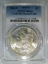 1883 O Silver Morgan Dollar PCGS MS 63 Vam 36A E Clash Hot 50 List Mint ... - $139.99