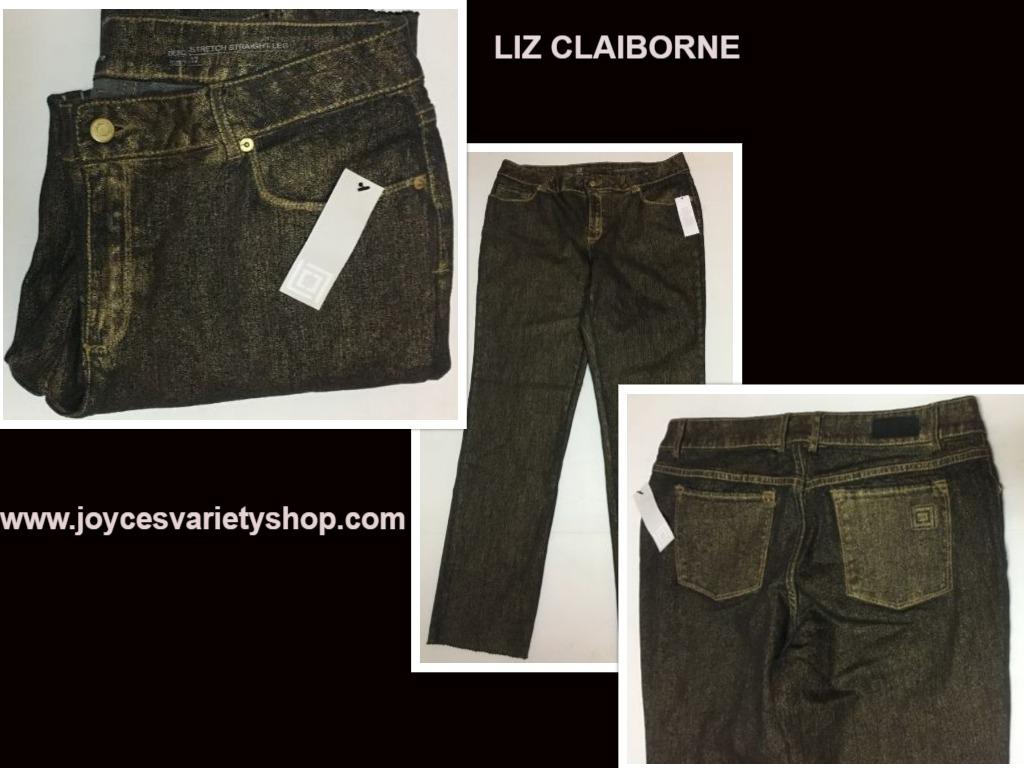 Liz claiborne gold fleck jeans 12 web collage
