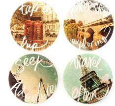 Travel Often Coasters New Set of 4 CoasterStone Never Stop Exploring Tak... - $24.74