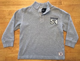 The Children's Place Boy's Gray Long Sleeve Henley Sweatshirt - Size: Me... - $9.89