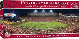 MasterPieces Arkansas Razorbacks 1000pc Panoramic NCAA Jigsaw Puzzle - $27.96