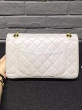 AUTHENTIC Chanel Classic 2.55 Reissue 226 Double Flap Bag Beige GHW image 2