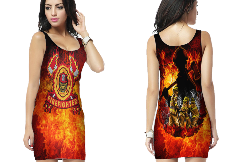 Primary image for FireFighter Department Bodycon Dress For Women