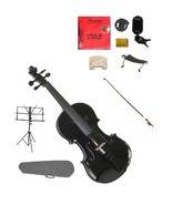 """Merano Acoustic 14"""" BLACK Student Viola,Case,Bow & Much More - $98.99"""