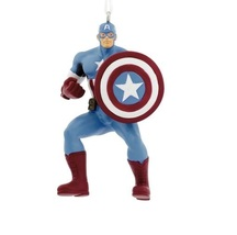 2017 Hallmark Marvel Avengers Captain America Christmas Tree Ornament! - $10.50