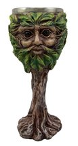 Atlantic Collectibles Whimsical Forest Spirit Greenman Deity Wine Goblet... - $18.99