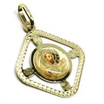 Pendentif Médaille, or Jaune 750 18K, San Francesco Assise, Losange, Émail image 1