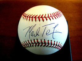 MARK TEIXEIRA 2009 WSC NEW YORK YANKEES RANGERS SIGNED AUTO OML BASEBALL... - $118.79