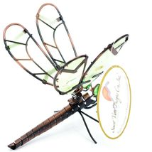 Dragonfly with Glow in the Dark Wing Pot Edge Sitter on Hook Garden Decoration image 5