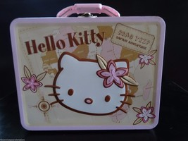 Hello Kitty Collectible Pressed Tin Lunchbox Road Trip Safari Adventure ... - $22.25