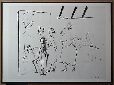 PICASSO ENGRAVING DATED 1954 +COA INVESTMENT OPPORTUNITY or UNIQUE GIFT RARE ART