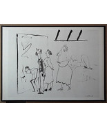 PICASSO ENGRAVING DATED 1954 +COA INVESTMENT OPPORTUNITY or UNIQUE GIFT ... - $195.00