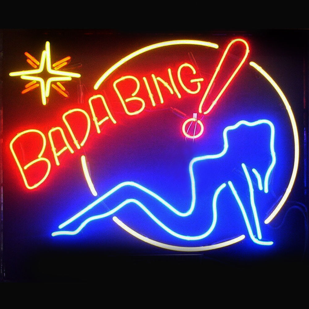 "New Bada Bing Girl Bar Pub Lamp Light BEER Neon Sign 24""x20"""