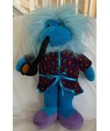 """Good Stuff Plush Blue Monkey In Smoking Jacket w/ Pipe Fuzzy Head 14"""" Cute! - $19.99"""