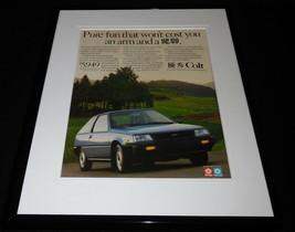 1987 Dodge Colt Hatchback 11x14 Framed ORIGINAL Vintage Advertisement - $32.36