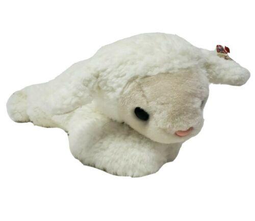 """13 """" Ty 2001 Polaire Couché Mouton Bonnet Pot Blanc Peluche Animal Jouet Avec - $21.88"""