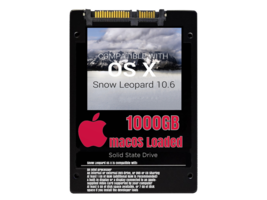macOS Mac OS X 10.6 Snow Leopard Preloaded on 1000GB Solid State Drive - $199.99