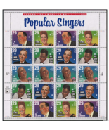 Popular Singers Sheet of Twenty 29 Cent Stamps Scott 2849-2853 - £9.41 GBP