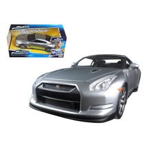 Brians Nissan GTR R35 Silver Fast & Furious Movie 1/24 Diecast Model Car... - $32.30