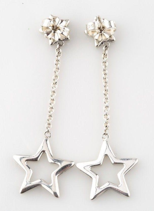 8efd4a309 Tiffany & Co. Sterling Silver Star Drop Earrings w/ Butterfly Backs Retired