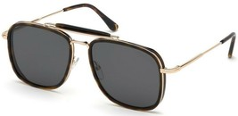 Tom Ford HUCK 665 52A Havana Gold / Gray Sunglasses TF665-52A 58mm - $234.22