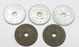 Washington State Vintage Sales Tax Tokens - $9.85