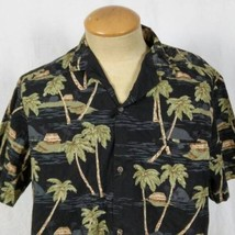 Royal Creations Huts Palm Trees Large Hawaiian Aloha Shirt - $19.79