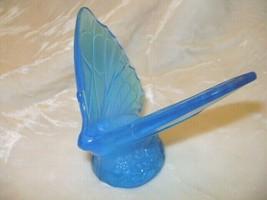 Fenton Art Glass Misty Blue Butterfly  - $48.37