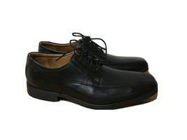 Clarks Mens Sz 11.5 Walk Soft Cushion Ortholite Black Leather Oxford Dre... - $44.50