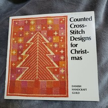 Counted Cross Stitch Designs for Christmas Pattern Book Danish Handcraft... - $30.75