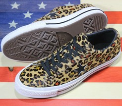 Converse One Star Leopard Cheetah Black White Ox Low Sample Shoes [163386C] Sz 9 - $88.88