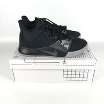 Nike Pg 3 Paul George Scarpe da Basket Uomo Misura 9 Nero/Grigio AO2607 003 - $83.16