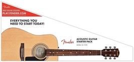 Fender FA-115 Full Size Dreadnought Spruce Top Acoustic Guitar Pack - Bu... - $149.99
