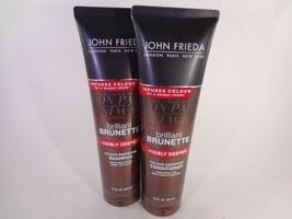 John Frieda Brilliant Brunette Shampoo and Conditioner 8.3 fl oz each [H... - $17.77