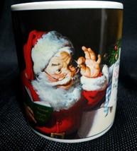 Coca Cola Brand Stoneware Coffee Tea Cup Mug Santa Reading Letter Coffee  - $25.74