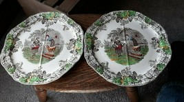 Vintage COPELAND SPODE BYRON SERIES NO 1 PLATES WITH QUATERLY Sections - $36.59
