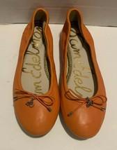 Sam Edelman Womens Ballet Leather Flat Size 5M Orange - $33.65