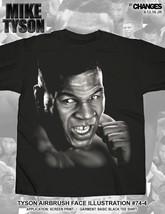 Mike Tyson Airbrush Face Iron Boxing World Champion Boxer Sports KO Shirt 74-4 - $20.57+