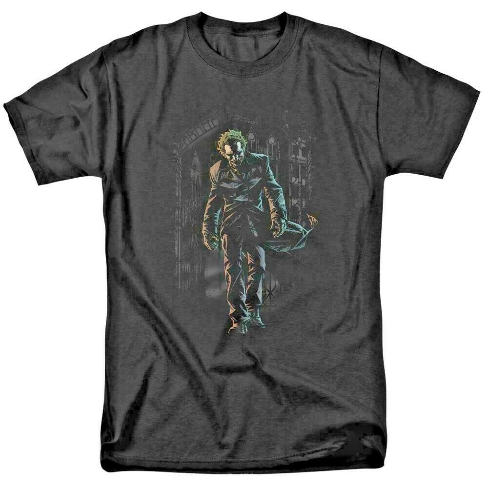 The Joker T-shirt DC comics Supervillain Gotham City graphic tee BM2191