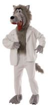WOLF IN SHEEP'S CLOTHING MASCOT BIG BAD WOLF HALLOWEEN COSTUME MEN STAND... - £50.22 GBP