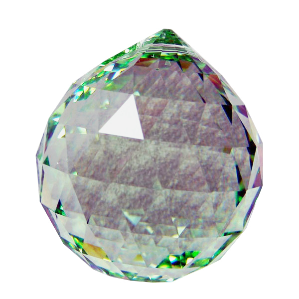 Swarvoski Strass Crystal 40mm Faceted Ball Prism  Light Peridot